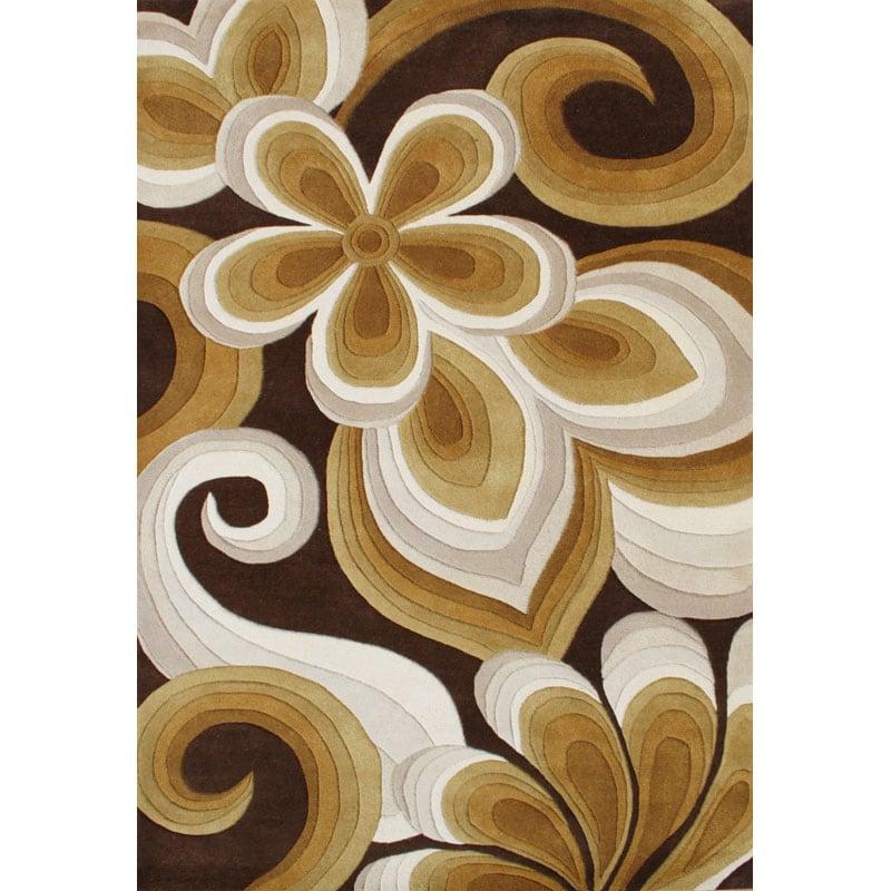 Alliyah Handmade Chocolate New Zealand Blend Wool Rug (5' x 8')