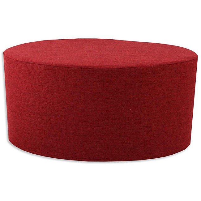 Extreme Burgundy Oval Foam Ottoman Free Shipping Today