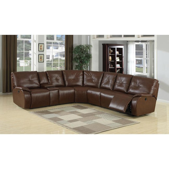 Justin 3-piece Bonded Leather Reclining Sectional