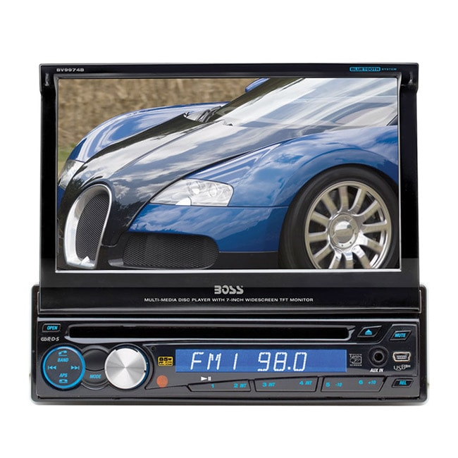 Boss BV9974B In-Dash 7-inch Flip-Out Monitor Car Stereo