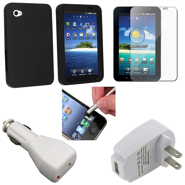 5-piece Case/ Charger/ Screen Protector for Samsung P1000 Galaxy Tab