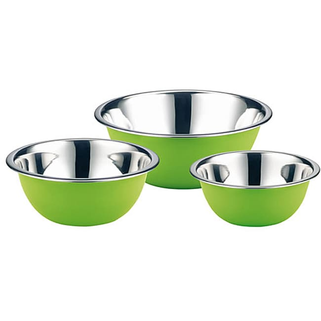 Elo Classic Color Stainless Steel 3-piece Green Mixing Bowl Set