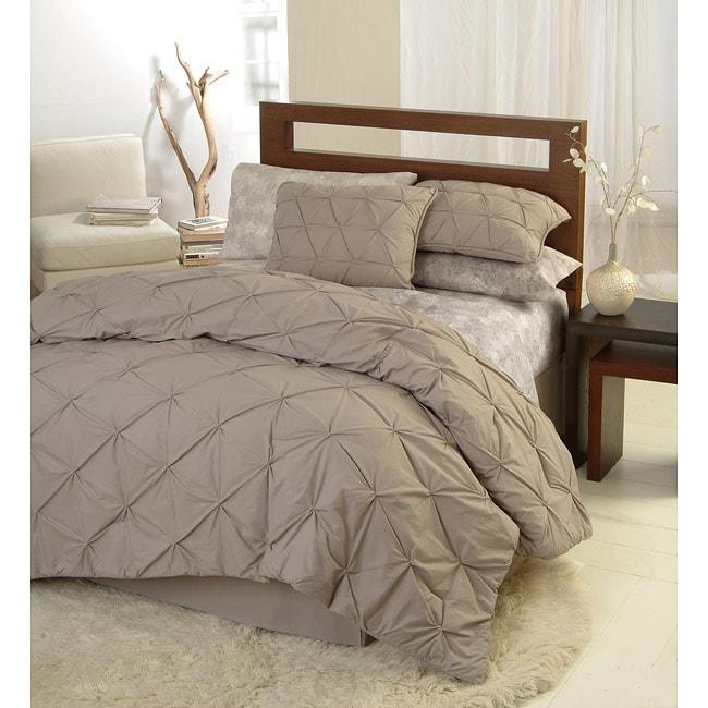 Carissa Taupe Queen-size 4-piece Comforter Set