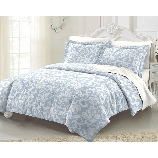 Sunflower Swirl 3-piece King-size Mini Comforter Set