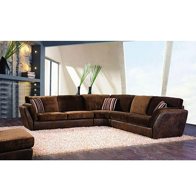Abbyson Living Metropolitan 3-piece Fabric Sectional