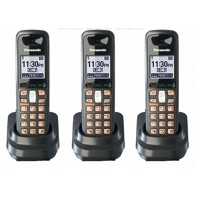 Panasonic KX-TGA641T DECT 6.0 Digital Cordless Handsets (Set of 3)