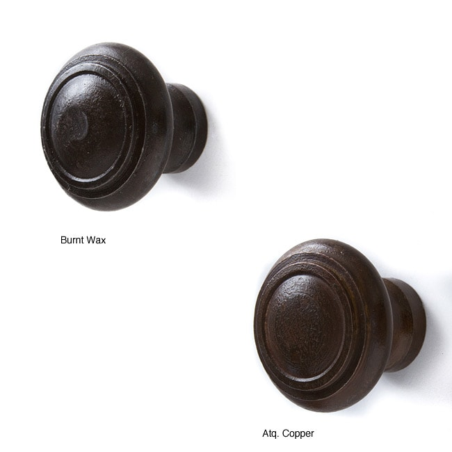 Set of 6 Recycled Iron Sophia Knobs (India)