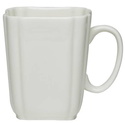 Pinpoint White Coffee Mug 13oz (Set of 6)