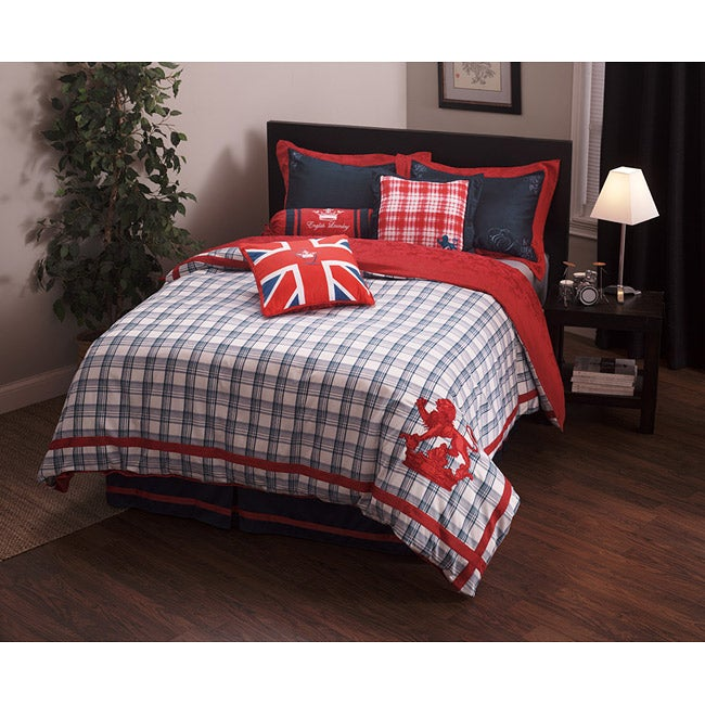 English Laundry Stock Port Queen-size Duvet Cover Set - Thumbnail 0