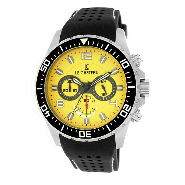 Le Chateau Men's Sport Dinamica Chronograph Rubber Band Watch