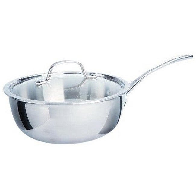 Astounding Calphalon Tri Ply Stainless Steel 3 Quart Chefs Pan With Cover Home Remodeling Inspirations Genioncuboardxyz