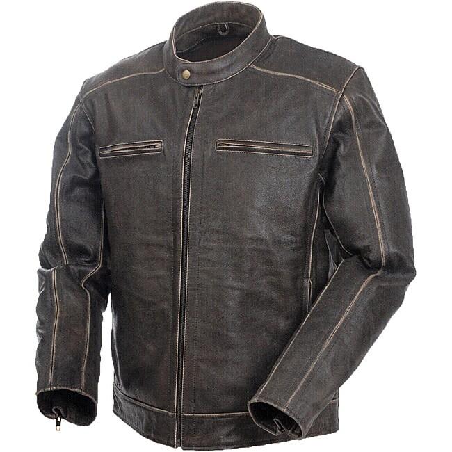 Mossi Men's 'Nomad' Premium Leather Jacket
