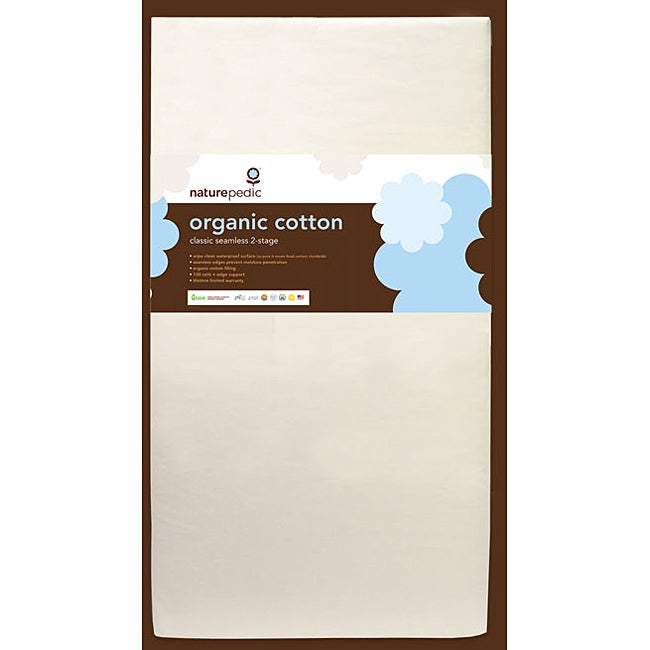 Naturepedic Lightweight Organic Cotton Dual Zone Crib Mattress