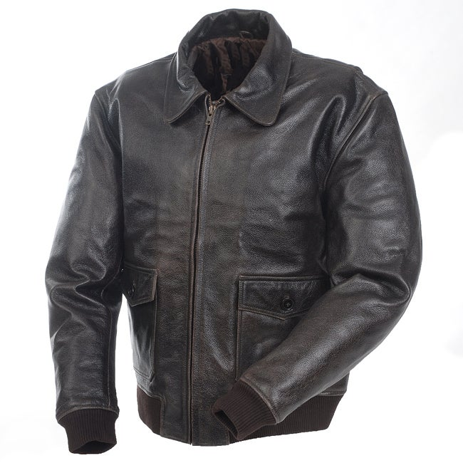Mossi Men's 'A-2 Bomber' Premium Leather Jacket
