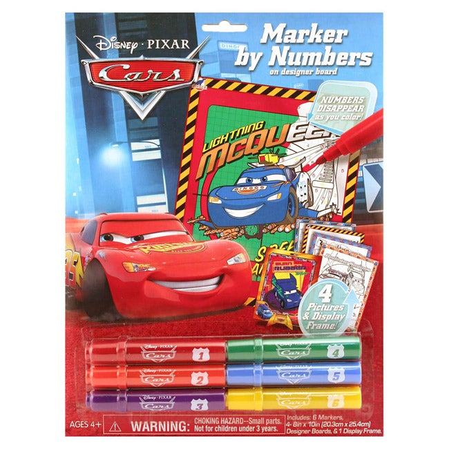 Giddy Up Cars Marker by Number Poster Set