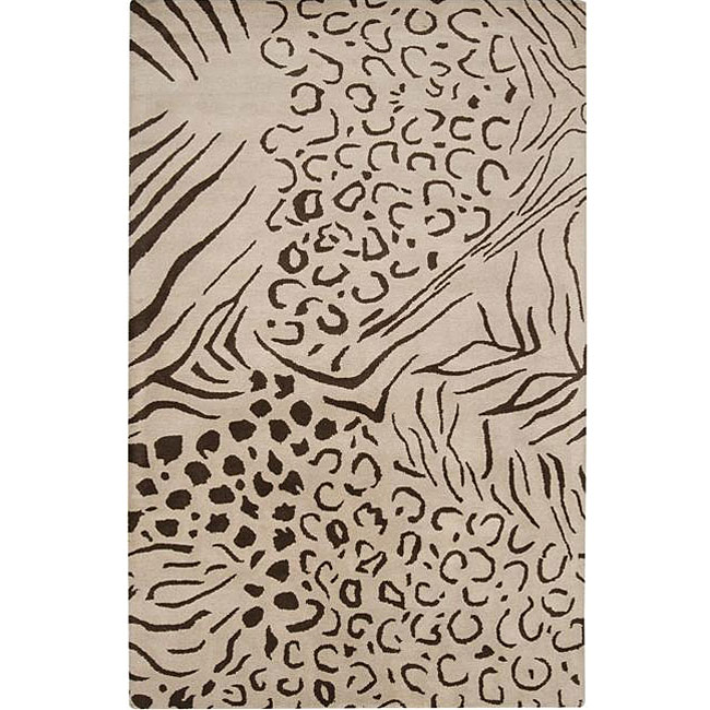 Hand-tufted Alfred Wool Rug (8' x 10')