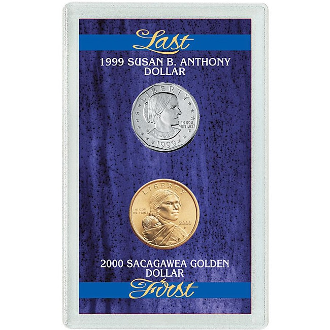 American Coin Treasures Susan B. Anthony Dollar and First Sacagawea Dollar