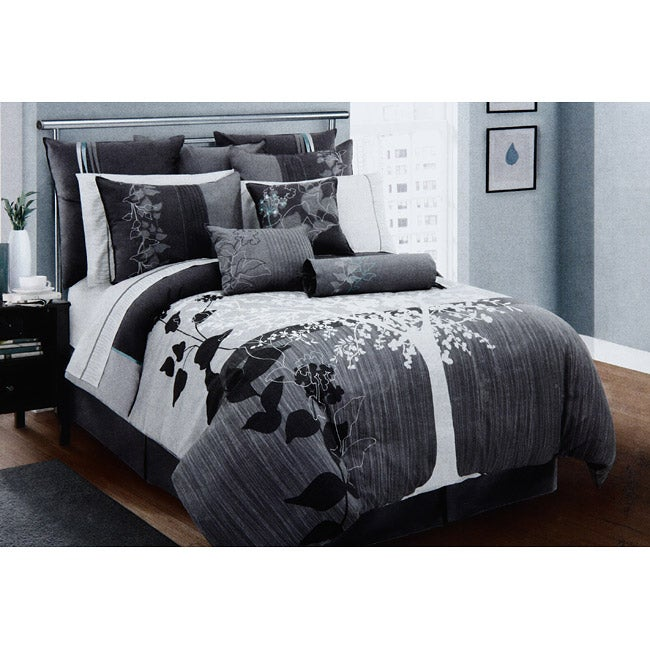 Aluna King-size 8-piece Bed in a Bag with Sheet Set