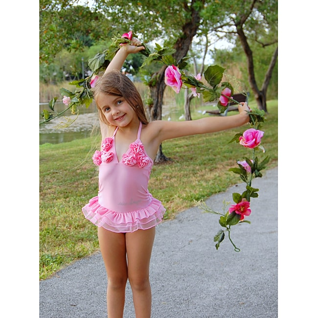 Baby girl swimsuit with tutu-5018