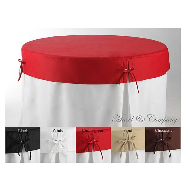 Betty Topper 48 inch Round Fitted Tablecloth Free