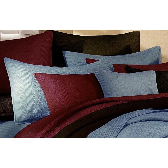 Greenland Home Fashions Renaissance Blue Standard-size Shams (Set of 2)