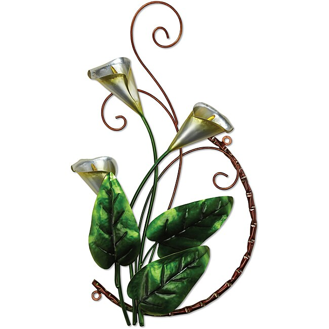 Deco Breeze Metal Calla Lily Wall Decor