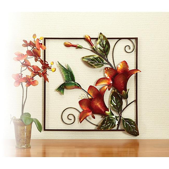 Deco Breeze Metal Hummingbird Wall Decor