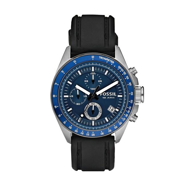 Fossil Men's 'Decker' Blue Chronograph Dial Watch