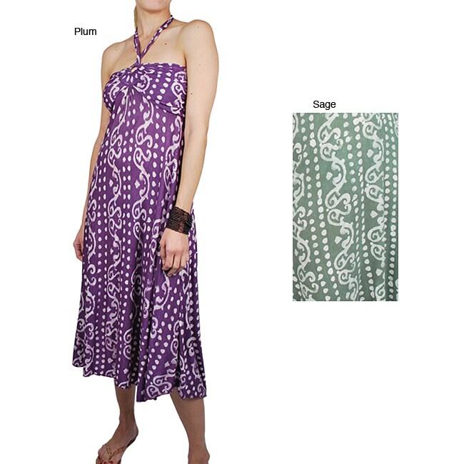 Women's Tribal-print Keyhole Halter Dress (Nepal)