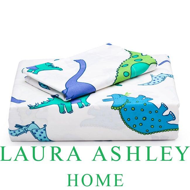 Laura Ashley Dinosaurs 3-piece Twin-size Sheet Set