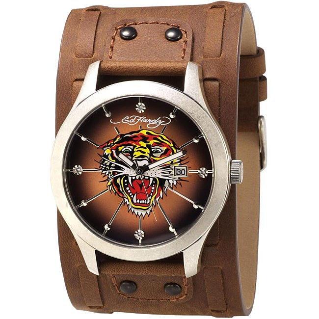 f98b420e0 Shop Ed Hardy Men's Tiger Gladiator Watch - Free Shipping Today - Overstock  - 6121509