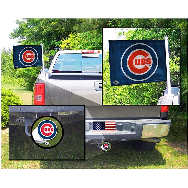 Rico Industries Chicago Cubs Truck Decoration Value Pack