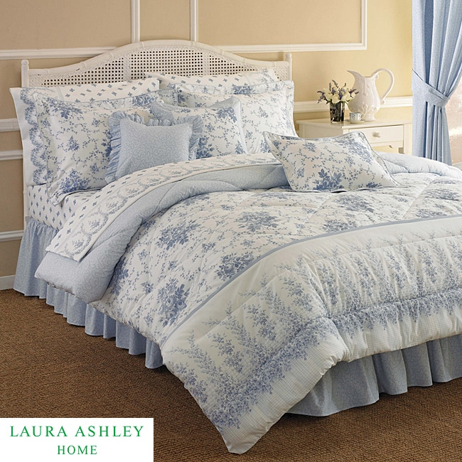 Laura Ashley Rebecca Queen-size 4-piece Comforter Set - Thumbnail 0