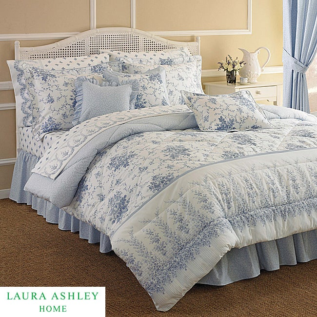 Laura Ashley Rebecca Twin-size 3-piece Comforter Set