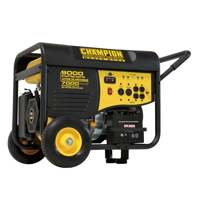 Champion 9000 Watt Electric Start Portable Heavy Duty Generator