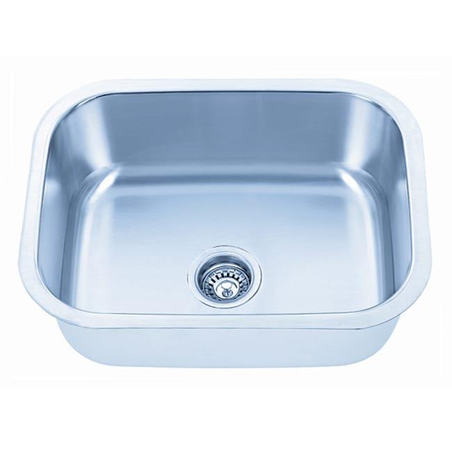 Fine Fixtures Undermount Stainless Steel Single Bowl Kitchen Sink