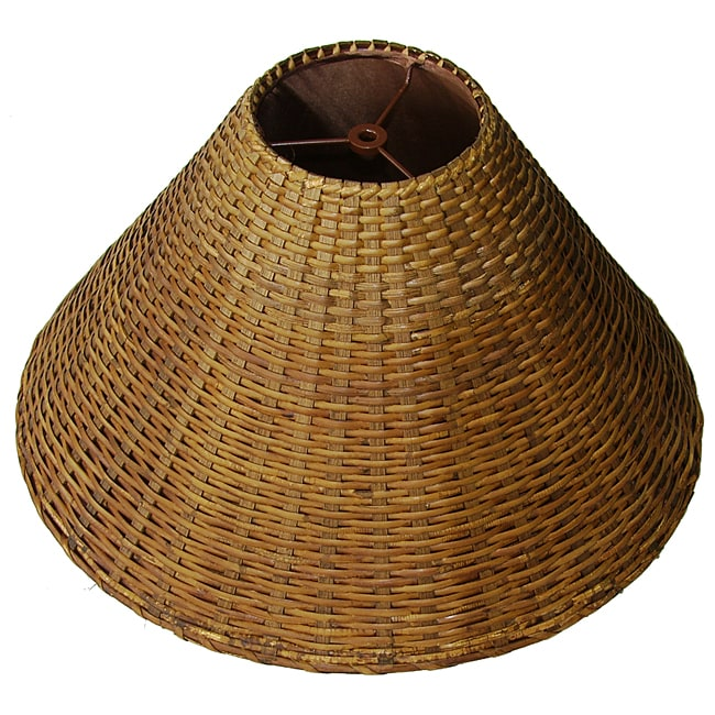 Medium Brown Wicker Rattan Lamp Shade Free Shipping