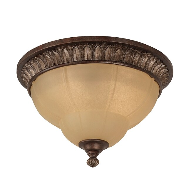 Shop Kensington 2 Light Bronze Flush Mount Ceiling Light