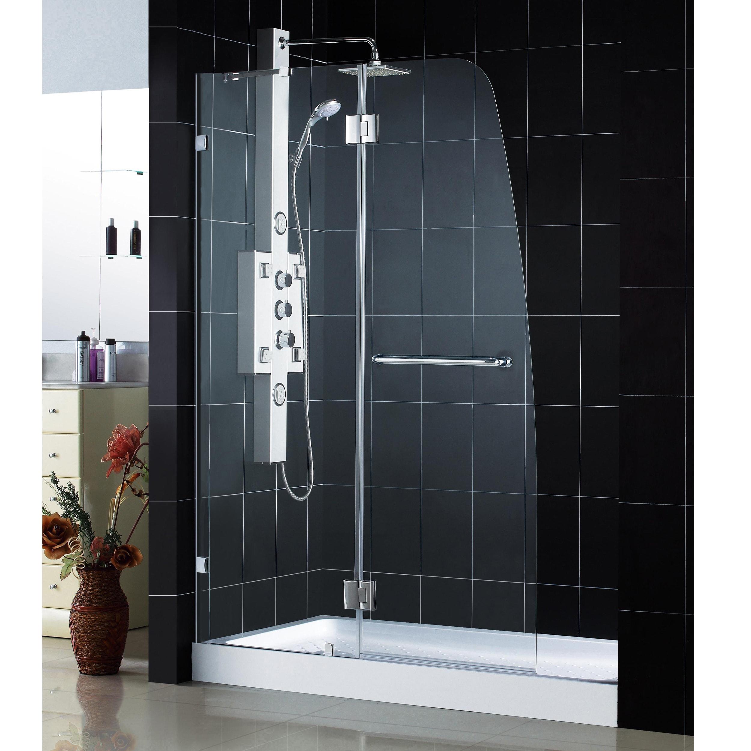 DreamLine 45 x 72 Aqua Lux Glass Shower Door with 36 x 48 Shower Base