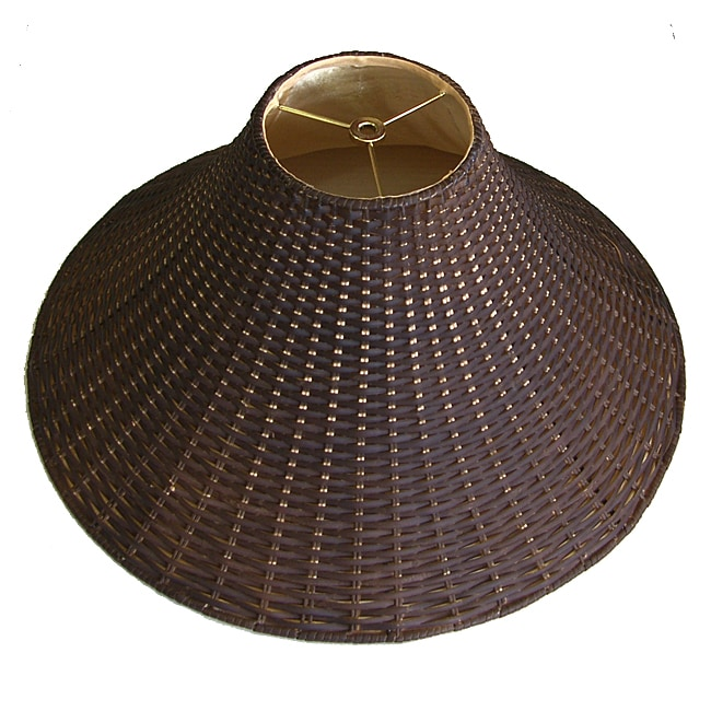 Dark Brown Wicker Rattan Lamp Shade Free Shipping Today