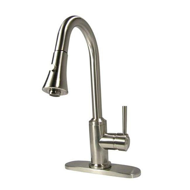Pull-down Brushed Nickel Kitchen Faucet
