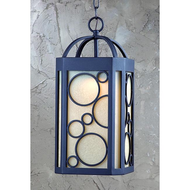 Circles LED 1-light Exterior Pendant in Bronze