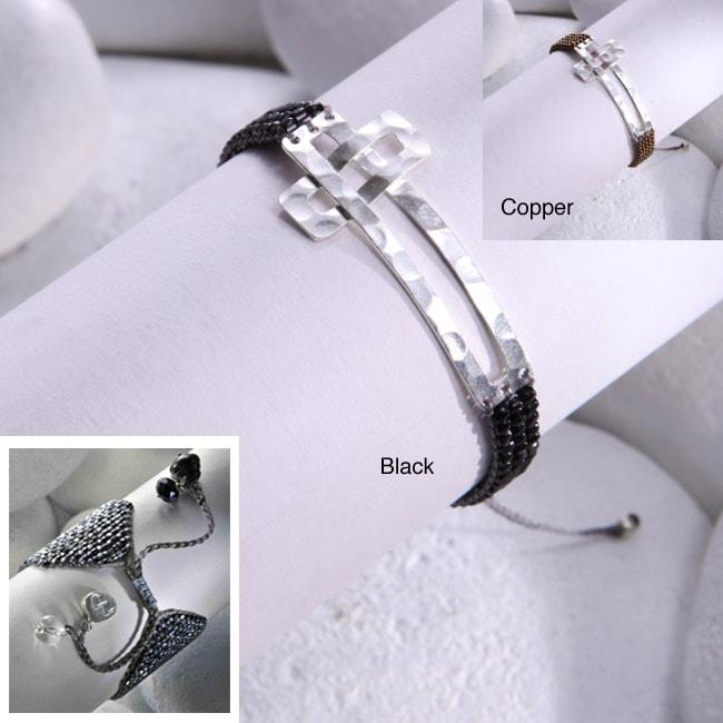 Sterling Silver Cross Bead Bracelet (Colombia)
