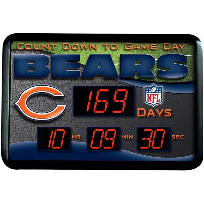 Chicago Bears LED Countdown Clock