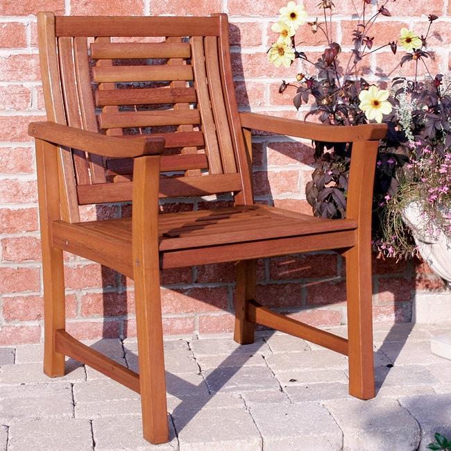 Outdoor Interiors Eucalyptus Deluxe Arm Chair Free