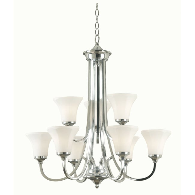 Ewing 9 Light Polished Nickel Chandelier