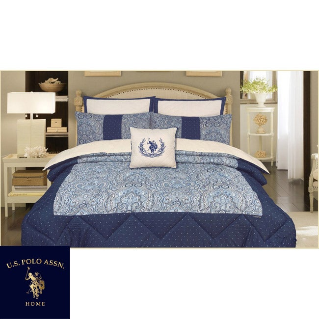 us polo association hayward 7 king size comforter