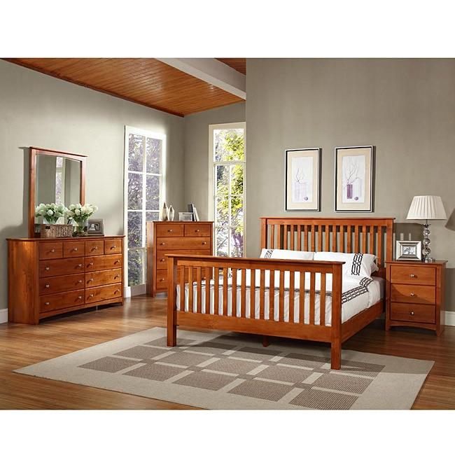 Shaker Alder Wood 4 Piece Queen Size Bedroom Set Free