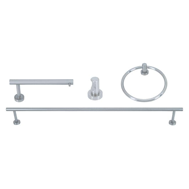Linea Brushed Nickel 4-piece Bath Set Collection