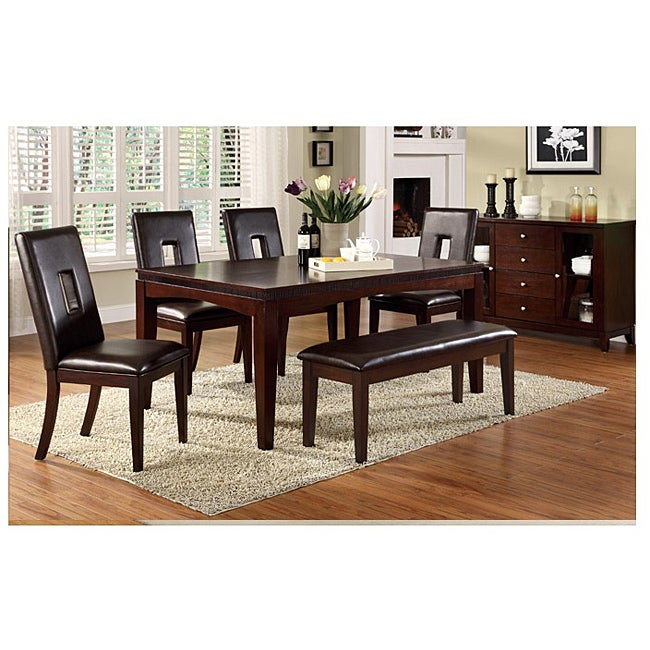 wayne 9 piece bi cast leather dining set free shipping today